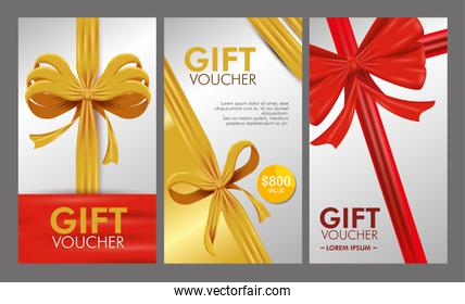 set gift voucher card with special sale