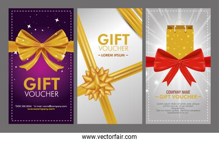 set gift voucher with special sale