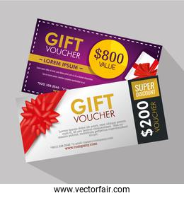 gifts voucher card with special sale