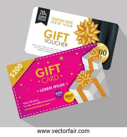 gifts voucher card with special promo