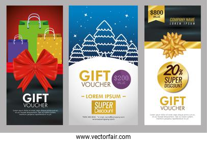gifts voucher card with special promotion