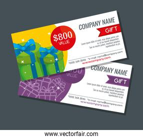 gifts voucher with special sale promotion
