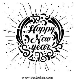 new 2019 year celebrate with ornamental style
