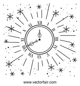clock with stars decoration to new year