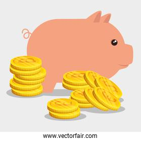 pig with bitcoin financial currency international