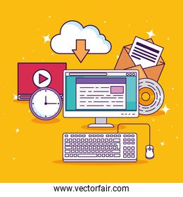computer technology with document education and video