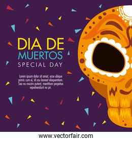 day of the dead celebration with skull decoration
