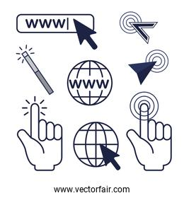 set arrow mouse cursor and global connection