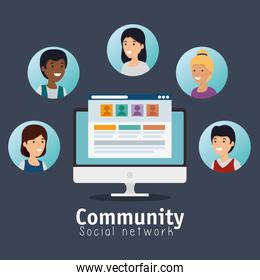 people community profile with social chat