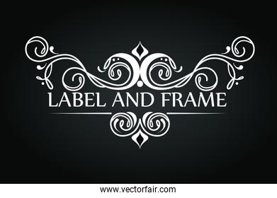 emblem style with ornament design