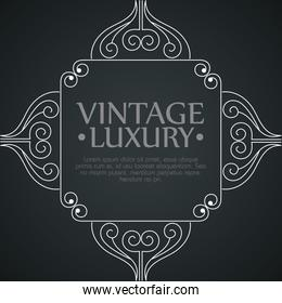 graphic with ornament label style