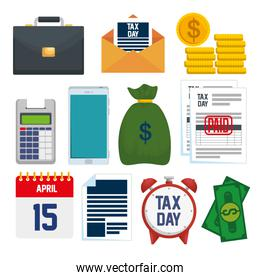set service tax report with financial document