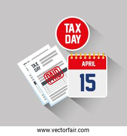 service tax report document with calendar