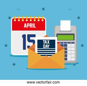 service tax with finance dataphone and calendar
