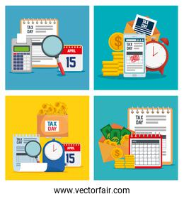 set business document with finance report