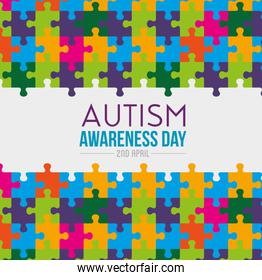 puzzles background to autiism awareness day