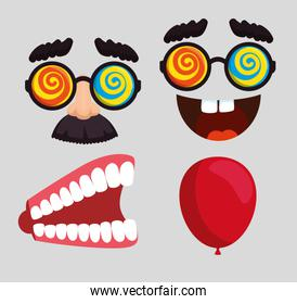 set fools day celebration with humor tools