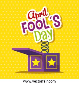 funny box with message to fools day