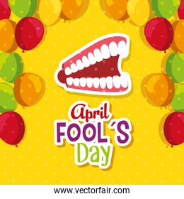 funny teeth with fools day celebration