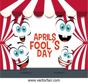 funny faces expression to fools day