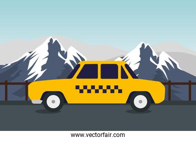 taxi card trevel transport in the snowy mountains
