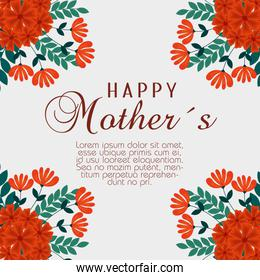 mothers day celebration with flowers plants decoration