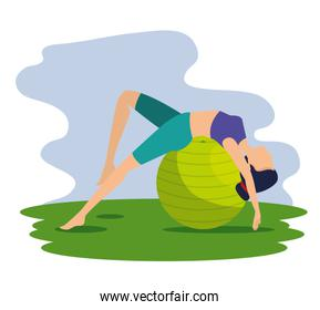 woman doing relaxation exercise pose