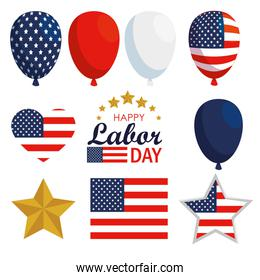 set usa flag balloons decoration to labor day