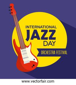 electric guitar instrument to jazz day