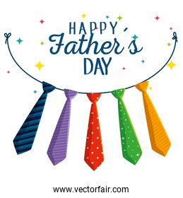 ties hanging decoration to fathers day