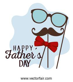 fathers day celebration with glasses and mustache