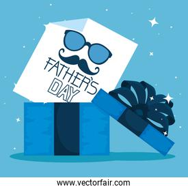 present with fathers day card to celebration