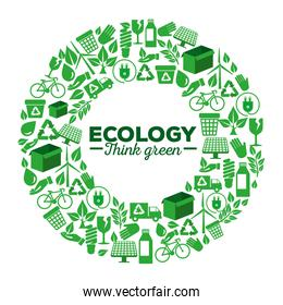 ecology label with renewable element to protection