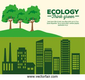 banner with ecology sustainable and environment protection