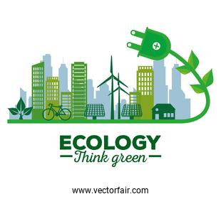 ecology solar energy in the building and house