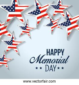 card of usa stars flag to memorial day