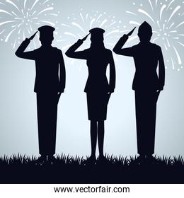 patriotic soldiers to traditional memorial day