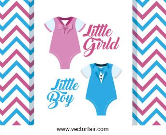 poster of little girl and boy pijamas