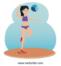 girl training volleyball lifestyle activity
