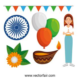 set of india independence day decoration