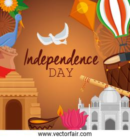 poster of independence day celebration holiday