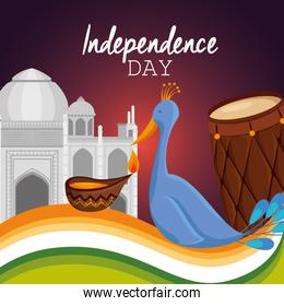 poster of india independence day celebration