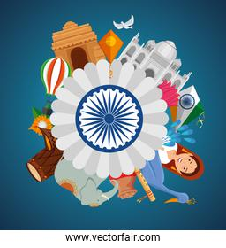india poster holiday celebration and decoration