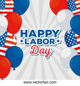 happy and traditional labor day celebration