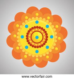hindu flower with points traditional decoration