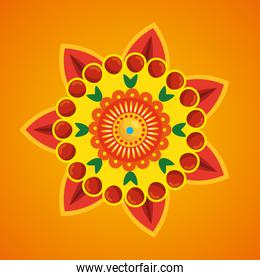 hindu flower with petals traditional decoration
