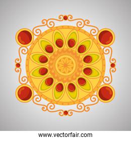hindu flower decoration with traditional design