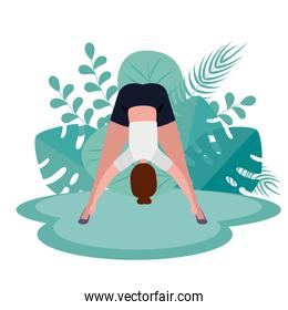 woman exercise yoga medition pose