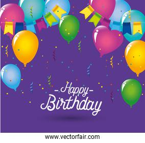 balloons decoration with party banner design