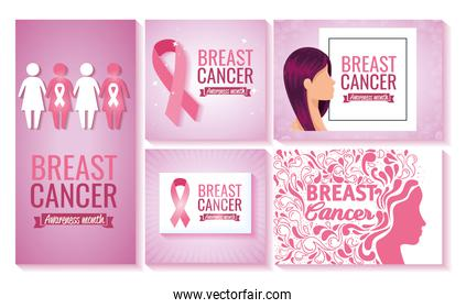 breast cancer awareness campaign set